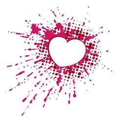 Heart on blob vector