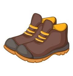 Hiking boots icon cartoon style vector