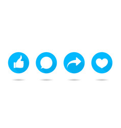 Icon like share comment and thumb button vector