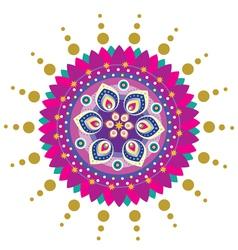 Indian Floral decorative design vector image