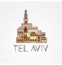 jaffa portr - symbol tel aviv israel vector image