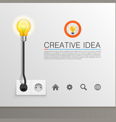 Lamp plugged vector