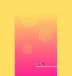 Love social media story duotone template vector