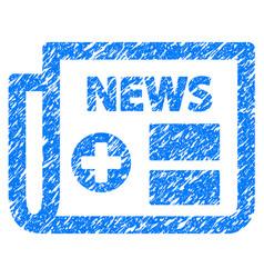 Medical newspaper grunge icon vector