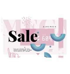 mega sale banner in contemporary style vector image