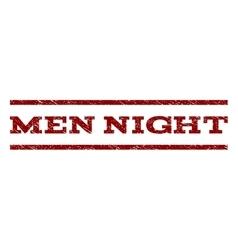 Men Night Watermark Stamp vector