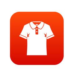 men polo shirt icon digital red vector image