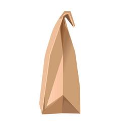 minimalistic paper bag vector image