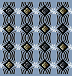 modern greek seamless pattern vector image
