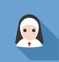 Nun icon vector