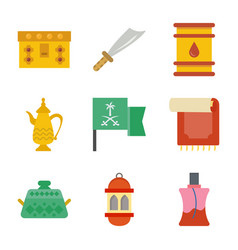 old traditional heritage icons set vector image
