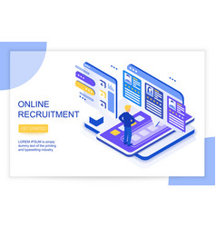 online job searching and recruitment human vector image