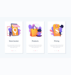 online store app interface template vector image