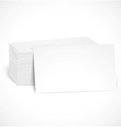 Pile business cards with shadow template vector