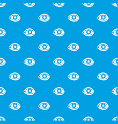 plastic surgery of eye pattern seamless blue vector image