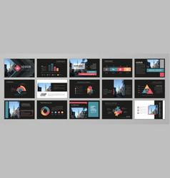 presentation flyer set vector image