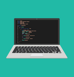 programming web development concept code on the vector image