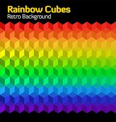 rainbow cubes vector image