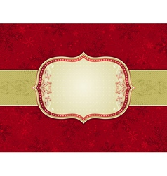 red background with christmas elements vector image