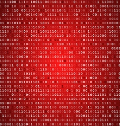 Red screen binary code screen vector