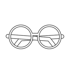 round frame glasses icon vector image