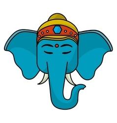 Sacred elephant india vector image