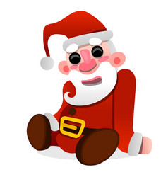 santa claus doll sitting on white background vector image