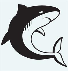 Silhouette shark vector image