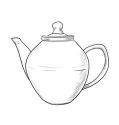 sketch of teapot vector image