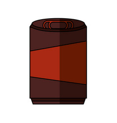 Soda can isolated icon vector