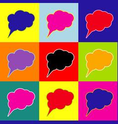 speach bubble sign pop-art vector image
