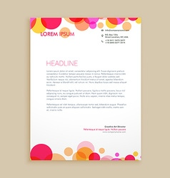 stylish colorful business letterhead design vector image