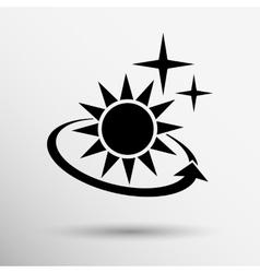 sun icon sun icon outdoor sunlight vector image