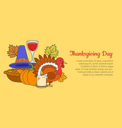 Thanksgiving day concept with holiday symbols vector