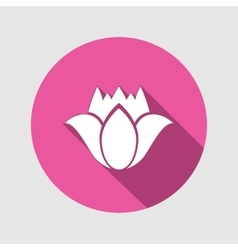 Tulip flower icons Floral symbol Round circle vector