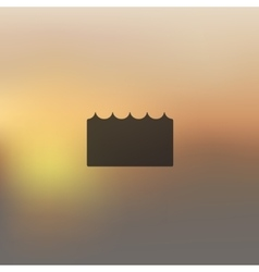 wave icon on blurred background vector image