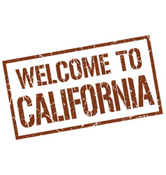 Welcome to california stamp vector
