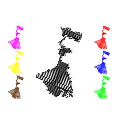 West bengal map vector
