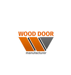 wood door icon vector image