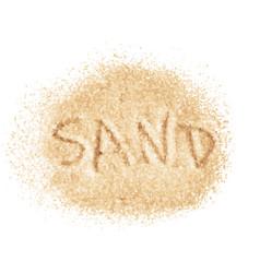 Word sand written on sand image vector