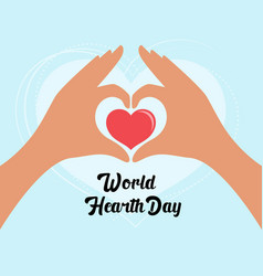 world hearth day design vector image
