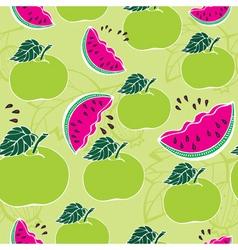 apple melon pattern vector image vector image