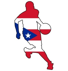 basketball colors of Puerto Rico vector image vector image