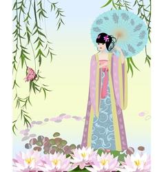 China girl2 vector image vector image