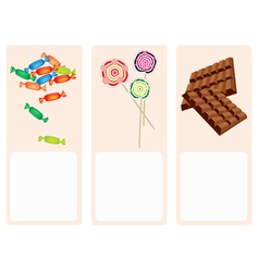 Chocolates Lollipops and Hard Candy Background vector image vector image