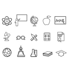 education linear icon set vector image vector image