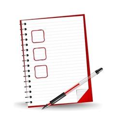 a checklist vector image