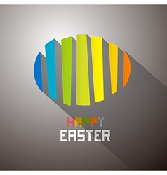 Abstract Colorful Easter Egg Background vector image