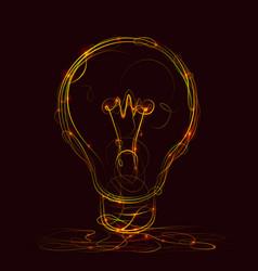 creative idea of fire style vector image vector image