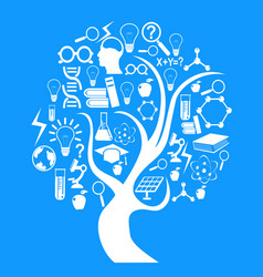 education and technology tree vector image